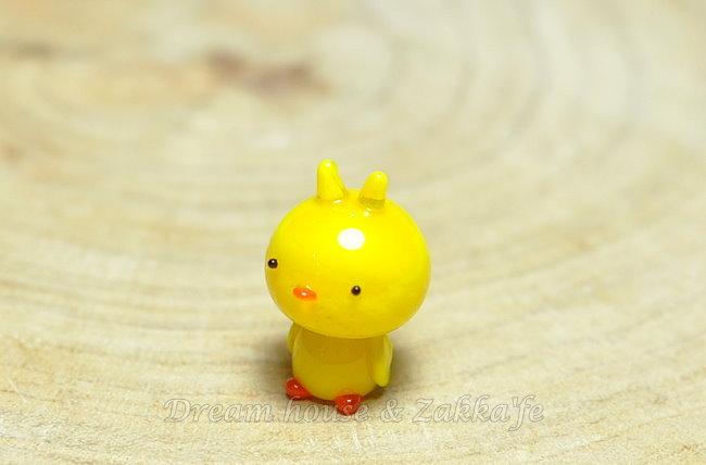日本硝子 玻璃工藝 黃色小雞 擺飾 《和風小物》★ 日本製 ★ Zakka'fe ★
