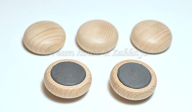 鄉村風 日系 Zakka 原木大鈕扣造型磁鐵(1個) ★很可愛喔★《日本原裝進口》Zakka'fe