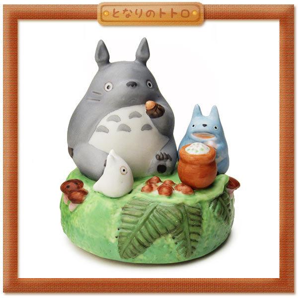 日本宮崎駿 Totoro 龍貓 陶瓷旋轉音樂鈴/音樂盒 龍貓野餐《日本原裝進口 》 Zakka'fe