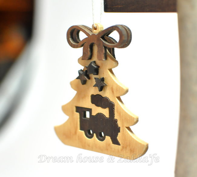 Zakka 鄉村風手工木製 聖誕樹蒸汽火車掛飾/吊飾 《 德國 RATAGS 》★ Zakka'fe ★