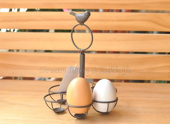 Zakka 南法鄉村風 仿舊復古 小鳥雞蛋架《 適用6顆 》★很漂亮喔★ Zakka'fe