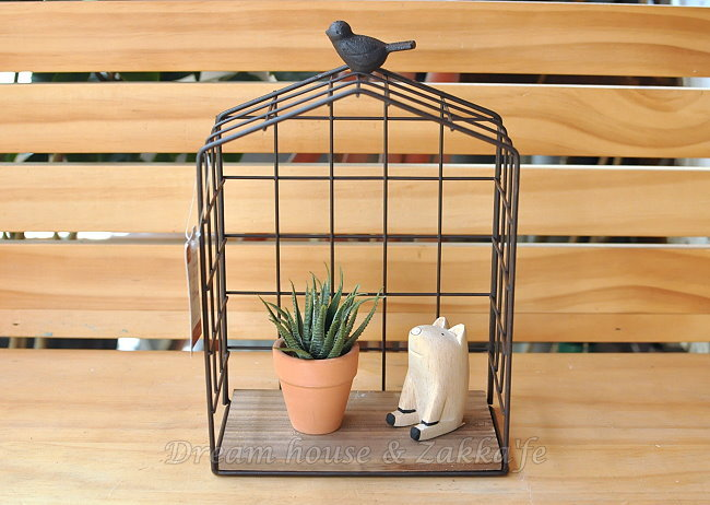 Zakka 南法鄉村風 仿舊復古 鳥屋造型置物架/盆栽架《 鍛鐵小鳥 》★很漂亮喔★ Zakka'fe