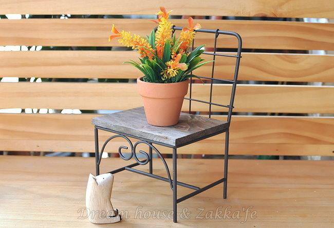 Zakka 南法鄉村風 仿舊復古 格子椅子造型花架/盆栽架《 可當展示座 》★很漂亮喔★ Zakka'fe