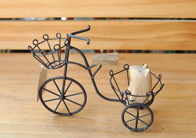Zakka 南法鄉村風 仿舊復古 三輪車造型花架《 很漂亮喔 》★ Zakka'fe