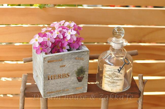 鄉村風Zakka 復古仿舊南法木製方形收納盒/花籃/置物盒 ★漂亮又實用★ Zakka'fe