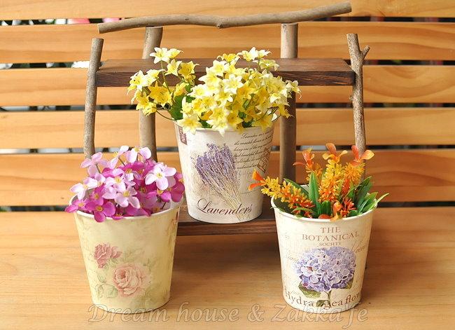 Zakka鄉村風 小鐵桶花器 《3款任選》《可當小物置物盒》★實用漂亮★ Zakka'fe