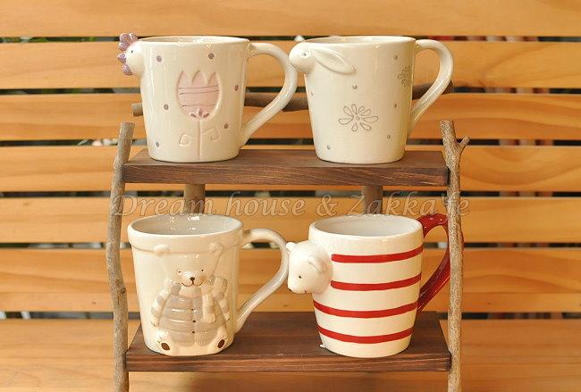 可愛動物 陶瓷馬克杯/水杯/牛奶杯 《 4款任選 》 ★很可愛喔★  Zakka'fe