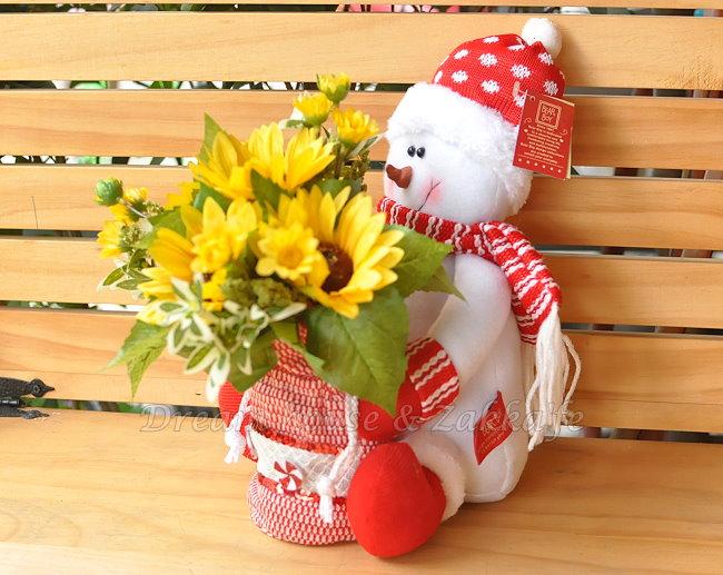 超可愛 耶誕/聖誕 雪人禮物袋娃娃 《 禮物袋可以收納小東西喔 》 Zakka'fe