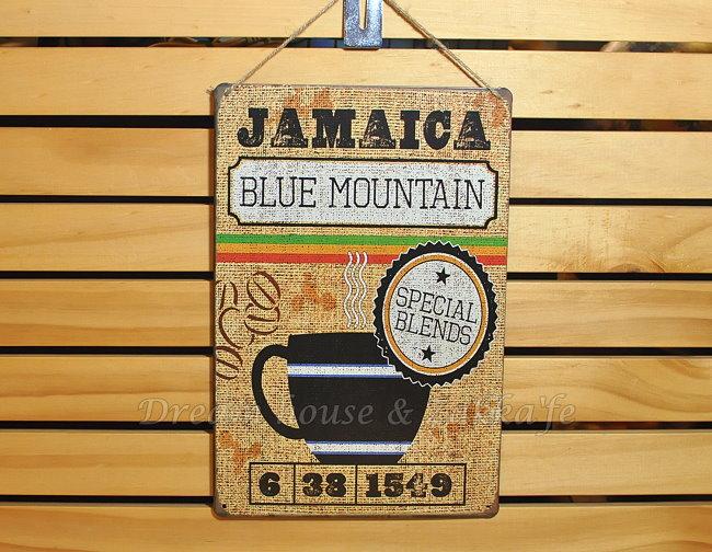 超漂亮復古仿舊鐵板壁掛/鐵板畫 小 《 JAMAICA咖啡 》★美式鄉村風★ Zakka'fe