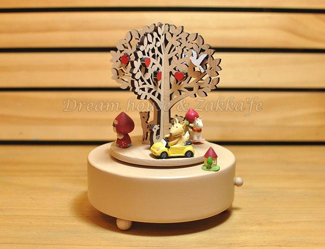 木製剪影旋轉音樂鈴 《 童話森林 》 ★ 質感超好 ★ Zakka'fe
