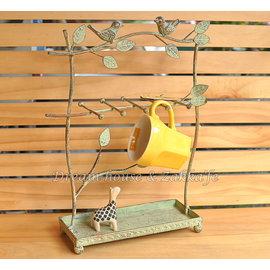 Zakka 鄉村風 復古仿舊 鍛鐵小鳥造型杯架/飾品掛架 《 仿舊感十足 》★ Zakk'fe ★