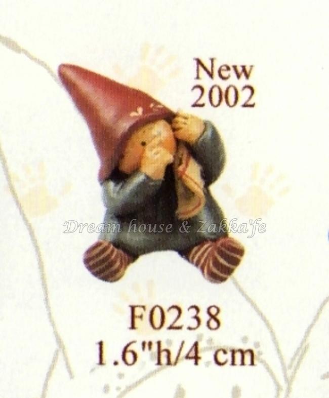 2002 Gnomy's荷蘭娃娃 F0238 迷你鄉村小精靈吸手指 ★ Zakka'fe ★