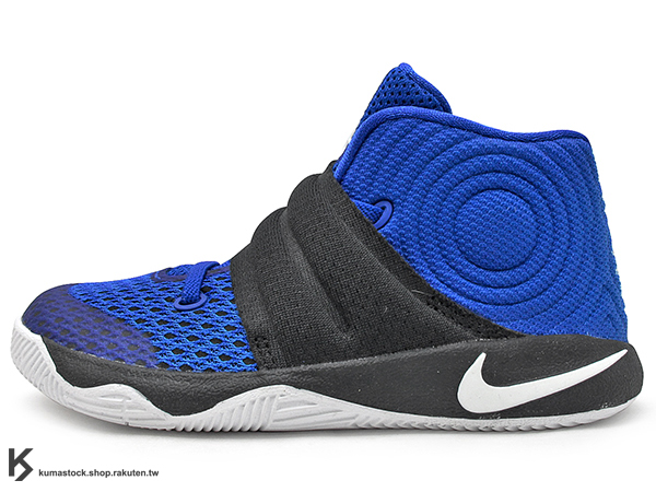 [16cm] 2016 Kyrie Irving 最新代言鞋款 台灣未發售 NIKE KYRIE 2 II TD BT DUKE 幼童鞋 BABY 鞋 黑藍 杜克 藍魔鬼 (827281-444) !