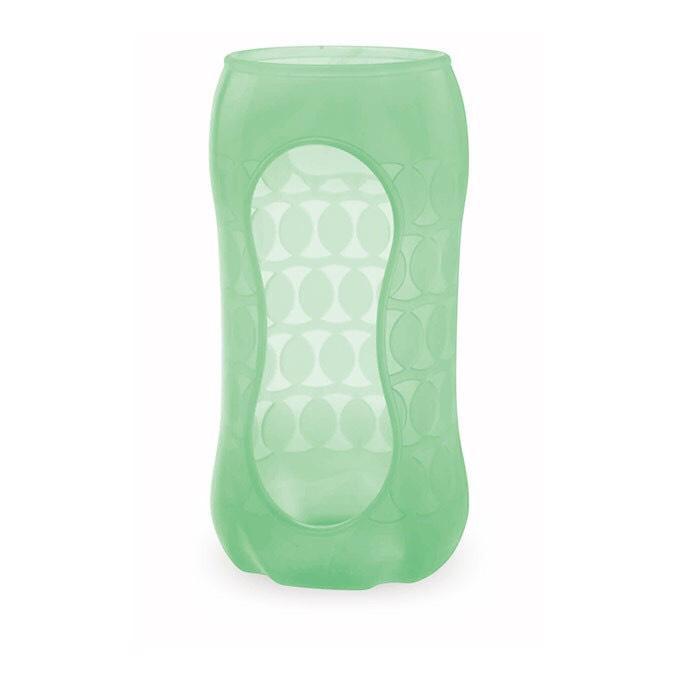 *babygo*240ml貝親寬口玻璃奶瓶保護套(顏色隨機)