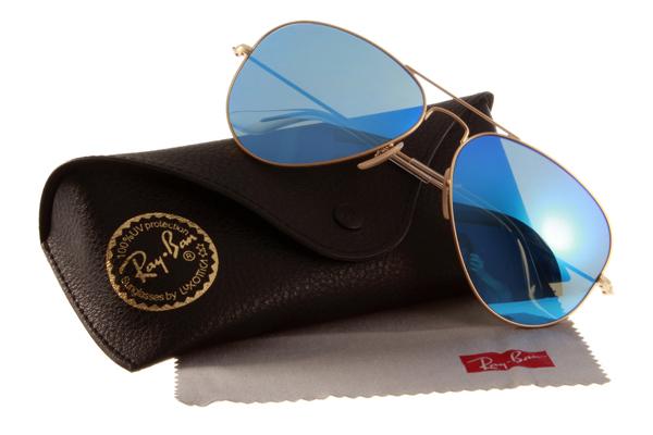 Ray Ban 雷朋 水銀鍍膜金邊藍鏡 太陽眼鏡 RB3025