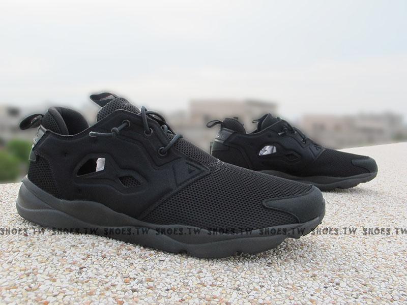 Shoestw【V67159】Reebok FuryLite 全黑 黑武士 慢跑鞋 PUMP