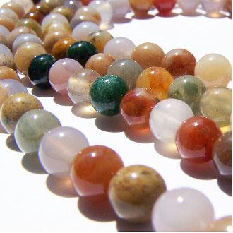[血石]天然寶石 6mm圓形珠 diy飾品散珠