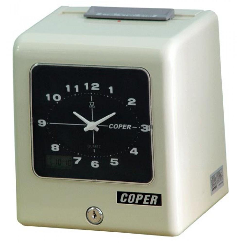 【六期 0 利率】高柏 COPER S-260B 指針式微電腦機械雙色六欄位打卡鐘 (適用工廠)【贈10人份卡架+200張卡片‧台灣製造】