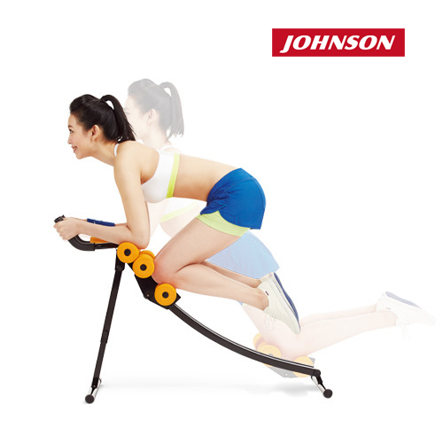 喬山JOHNSON| 纖腹美弧形健腹機|弧形設計符合人體曲線