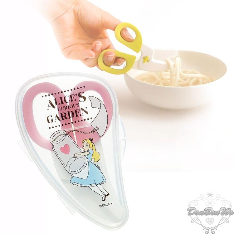 SKATER迪士尼愛麗絲幼兒離乳食品專用食物料理剪刀附收納盒粉346910海渡