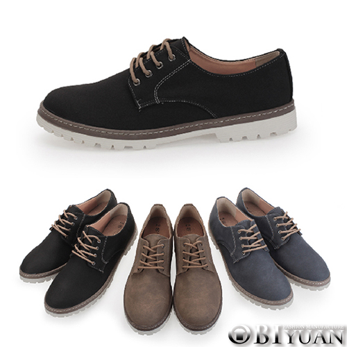 MIT手工休閒鞋【QFTP33】OBI YUAN雅痞雷根鞋底質感百搭皮鞋 共3色