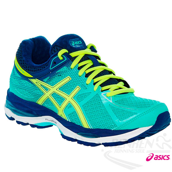 ASICS亞瑟士 女專業慢跑鞋 GEL-CUMULUS 17 (綠黃藍) 2015新款 高緩衝