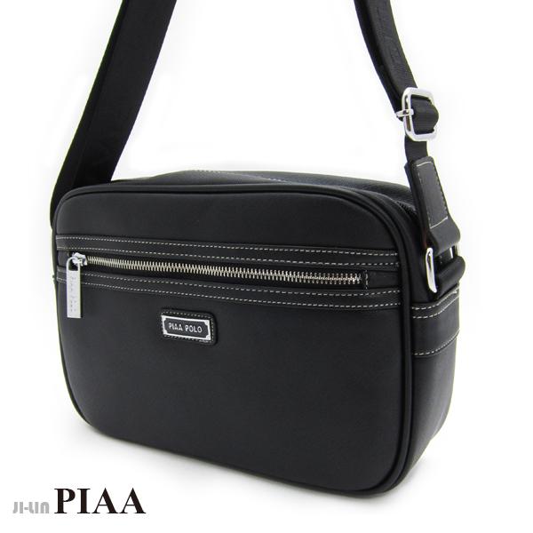 5-P804A【PIAA POLO 皮亞 保羅】前拉鍊橫式側背包 (二色)