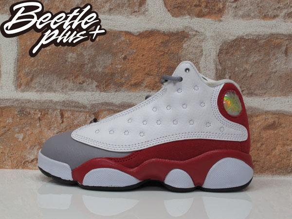 中童 BEETLE NIKE AIR JORDAN 13 RETRO BR 白紅 灰 復古 籃球鞋 414575-126
