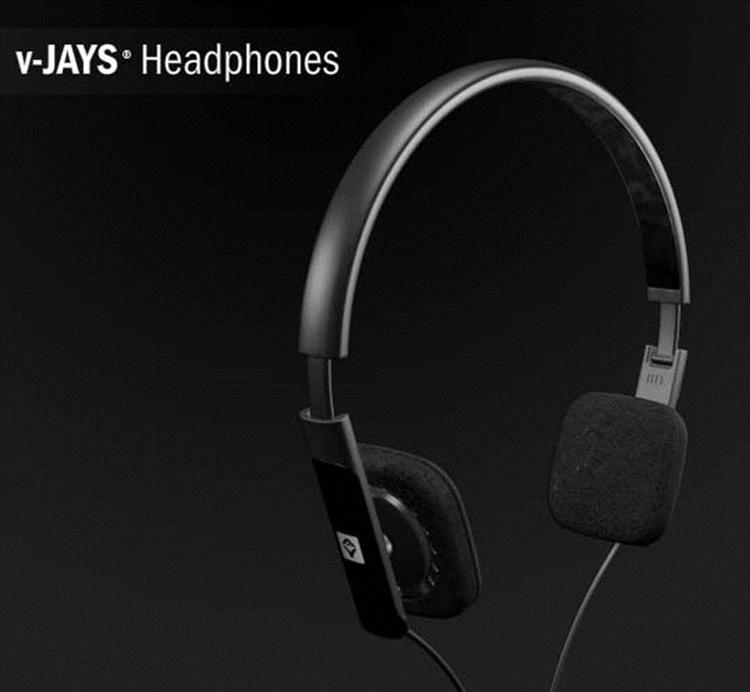 {音悅音響MUSIC HI-FI}JAYS 瑞典 V-JAYS 黑色 耳罩式 摺疊 攜帶 耳機 門市可試聽 vjays
