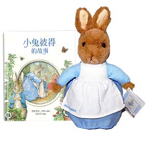 Peter Rabbit彼得兔媽媽玩偶/繪本《小兔彼得的故事》中文版