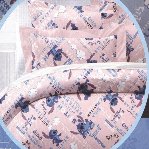 *華閣床墊寢具*《史迪奇-粉》單人床包組【床包+枕套*1】不含被套   台灣製