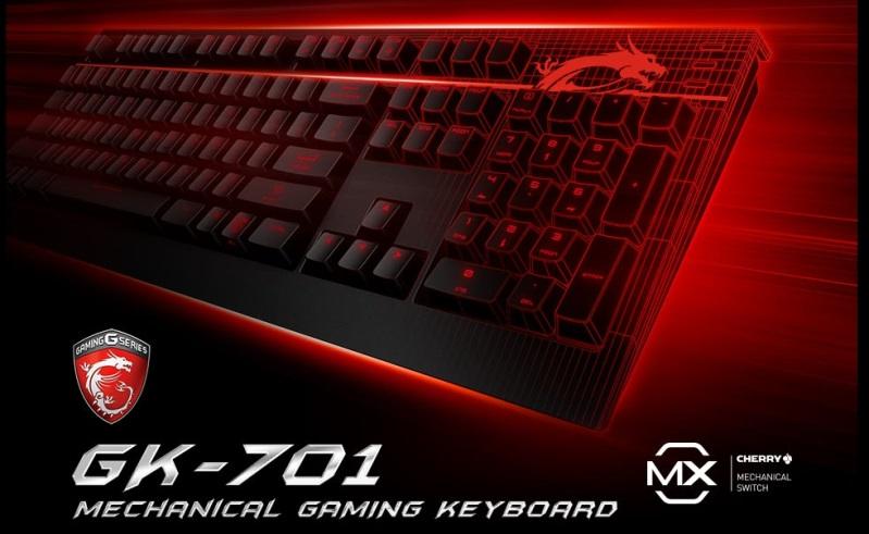 MSI 微星GK701 機械鍵盤 (茶軸)