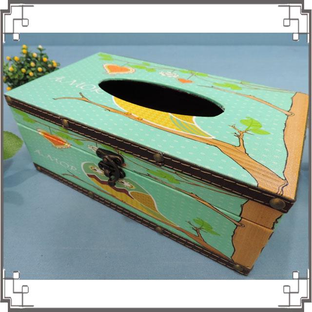 木製帆布面紙盒《PA15》鄉村貓頭鷹面紙盒 居家布置 新居落成 送禮◤彩虹森林◥