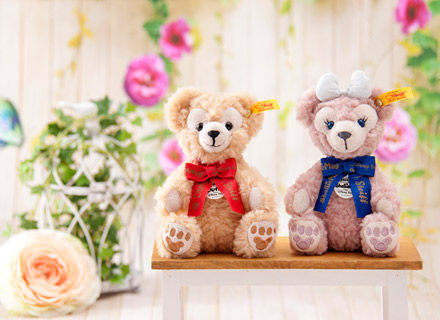 日本東京迪士尼限定 十週年紀念Steiff金耳扣Duffy/shelliemay吊飾