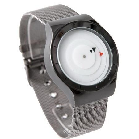 手錶 三角箭頭指針羅盤設計鋼索腕錶 創意感十足 中性款式男女都可戴 柒彩年代【NE1836】單支售價