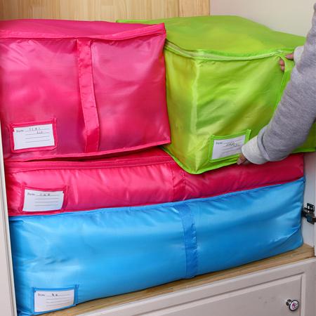 換季收納 牛津布衣物防塵收納袋 超大容量 可手提 棉被袋 內衣 襪子 衣服 整理【N200799】