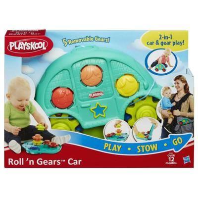 《★美國 PLAYSKOOL》二合一攜帶式齒輪小車遊戲組 美國代購 溫媽媽