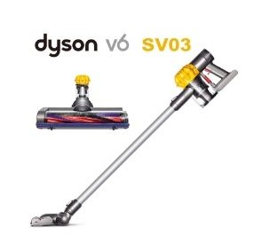Dyson  V6  【 SV03 】 (月光黃)無線手持式吸塵器~送手持工具組   恆隆行原廠貨2年保固