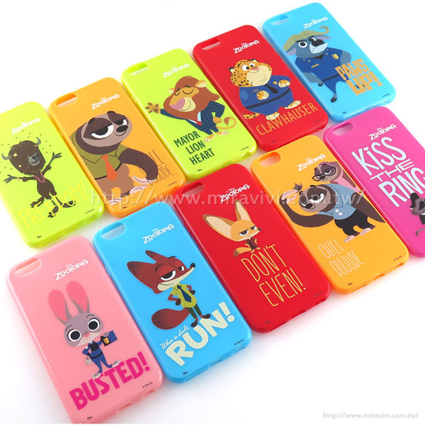 【Disney 】iPhone 6/6s 動物方程式ZooTooPIA 彩繪保護軟套