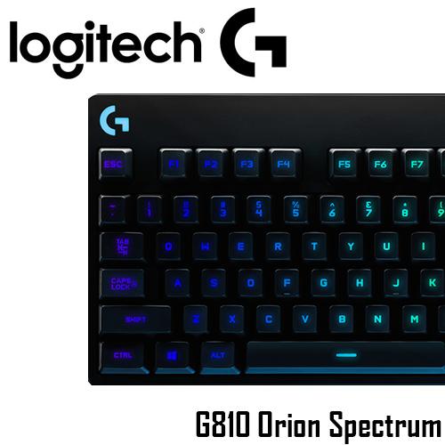 [買就送電影票二張] 羅技 Logitech  G810 Orion Spectrum RGB 機械遊戲鍵盤