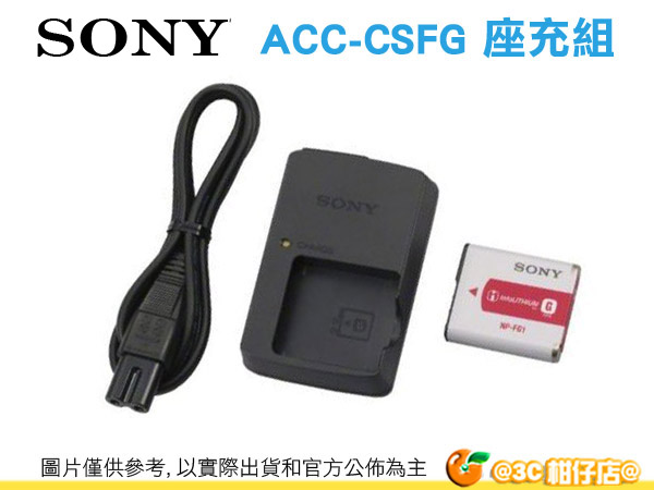 Sony ACC-CSFG 原廠充電器組 台灣索尼公司貨 含 NP-FG1 適用  HX30V HX10V HX9V HX7V WX10