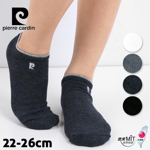 【esoxshop】皮爾卡登 刺繡船型氣墊襪 休閒毛巾襪 台灣製