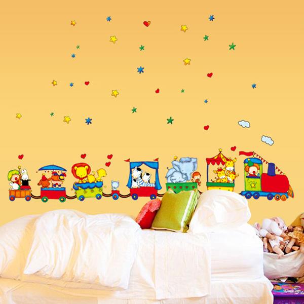 Loxin☆創意可移動壁貼 卡通玩具車【BF0391】DIY組合壁貼/壁紙/牆貼/背景貼/裝飾佈置/室內設計裝潢/客廳臥室浴室