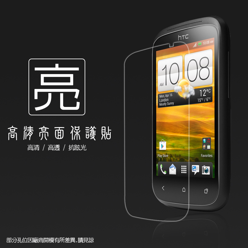 亮面螢幕保護貼 HTC Desire C A320e 保護貼