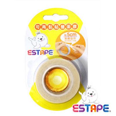 王佳膠帶 ESTAPE 可再黏貼PT190805雙面膠帶19mmx8M/ 捲