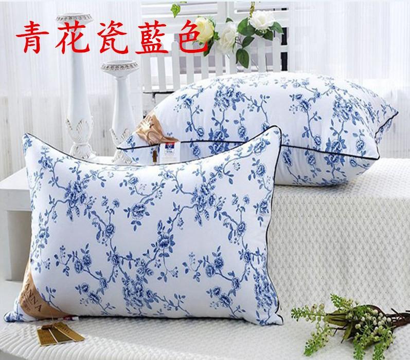 五星級飯店 羽絲絨枕 枕頭 睡眠 居家 生活 團購價 青花瓷藍色 共五色