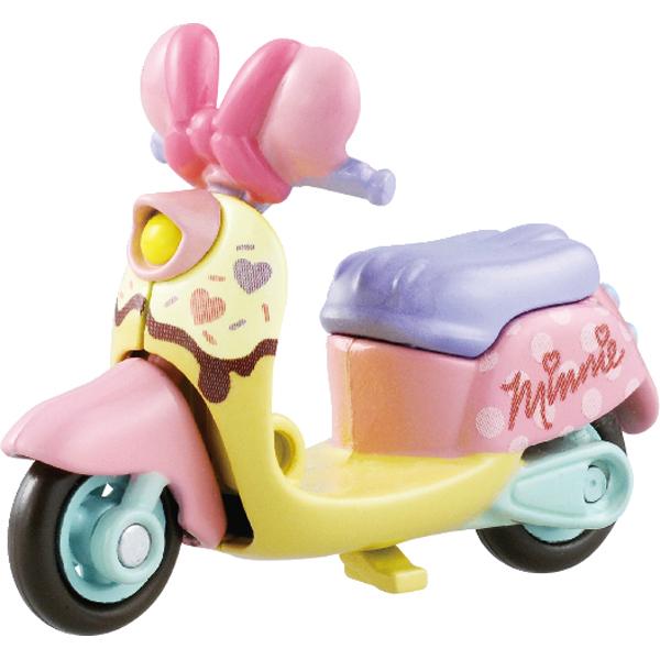 【真愛日本】16030900001 TOMY小車-米妮愛心機車 米奇米妮 米老鼠 TOMY 多美小汽車