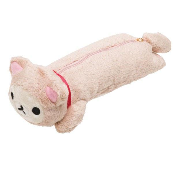 【真愛日本】15100300085 造型娃趴筆袋-變裝貓奶熊 拉拉熊Rilakkuma 絨毛 鉛筆盒 鉛筆袋 造型