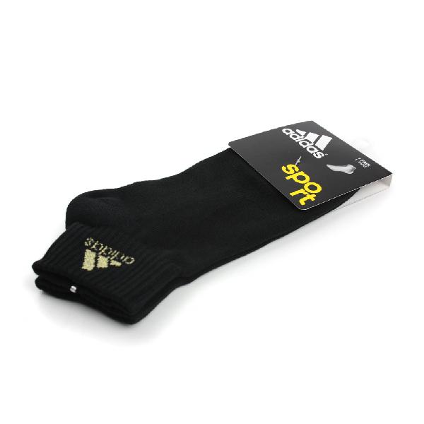 adidas Sport 舒適 好穿 柔軟 棉 襪 黑 noB34