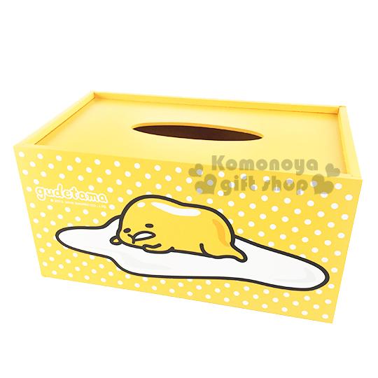 〔小禮堂〕蛋黃哥 木質面紙盒《黃.趴姿》收納兼擺飾